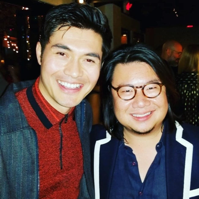 Kevin Kwan as seen in a picture with Henry Golding in Ysabel in February 2019