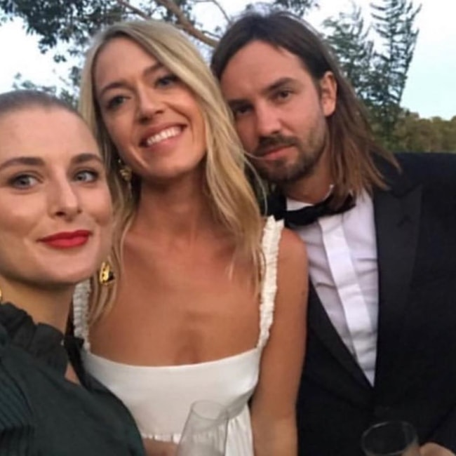 Kevin Parker as seen in a selfie with his wife Sophie Lawrence that was taken on the day of their wedding in February 2019
