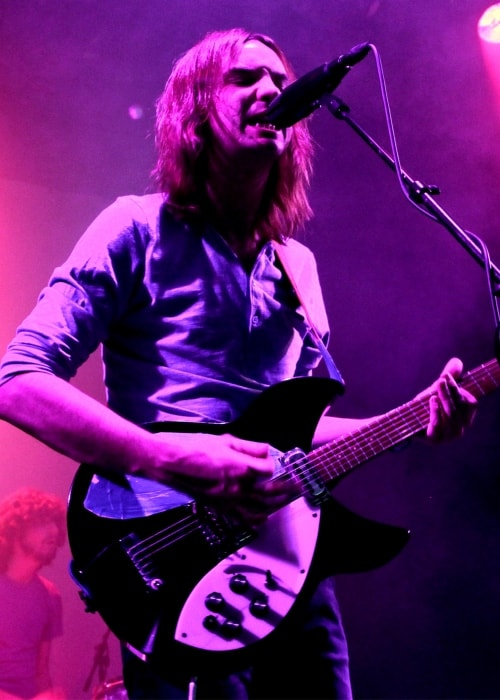 Kevin Parker as seen performing in a picture taken during the Tame Impala concert in January 2013