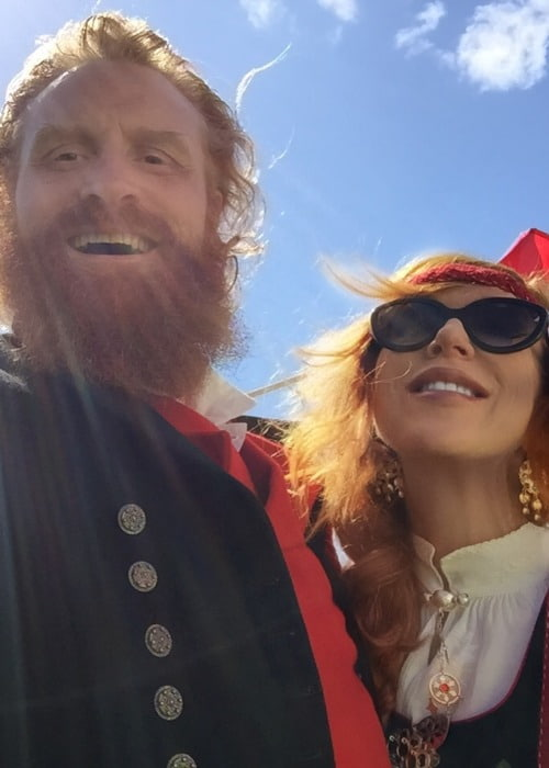 Kristofer Hivju and Gry Molvær Hivju as seen in May 2018