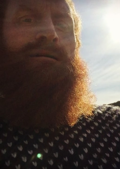 Kristofer Hivju in a selfie as seen in May 2018