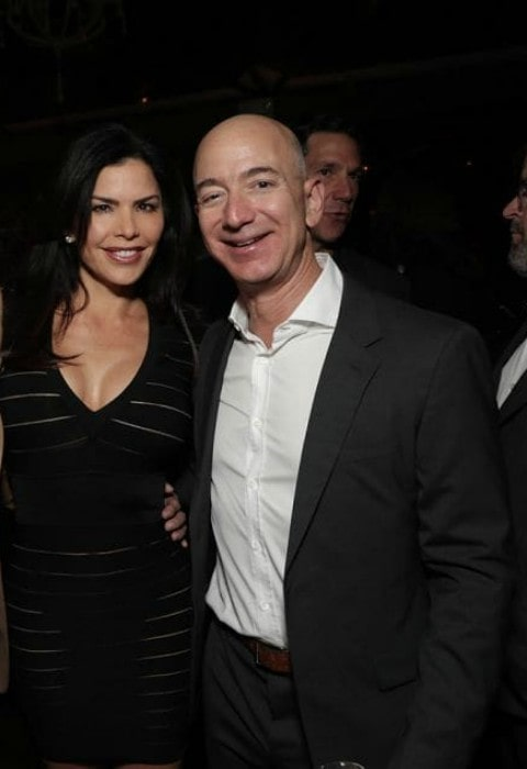 Lauren Sánchez as seen with Jeff Bezos