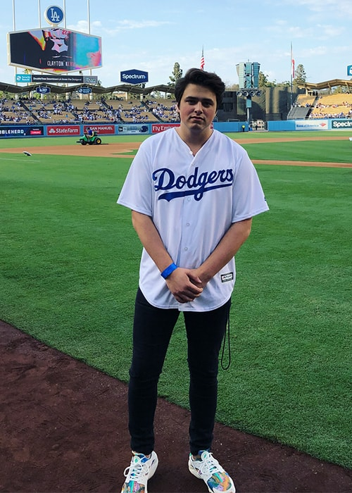 Liam Attridge at the Dodgers Stadium as seen on his Instagram Profile in August 2018
