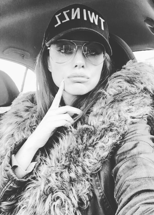 Louise Cliffe as seen in a black-and-white car selfie in January 2017