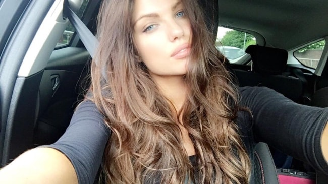 Louise Cliffe as seen while taking a Saturday selfie in a car in August 2017