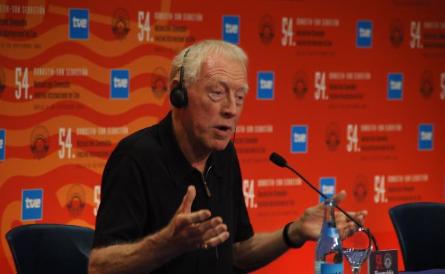 Max Von Sydow at the Donosti Award Press Conference in September 2005