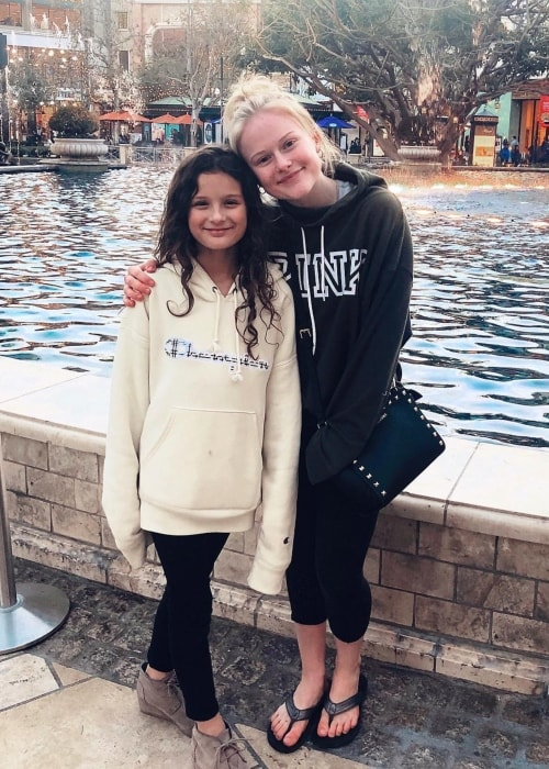 Mia Dinoto as seen in a picture with Hayley LeBlanc taken in February 2019