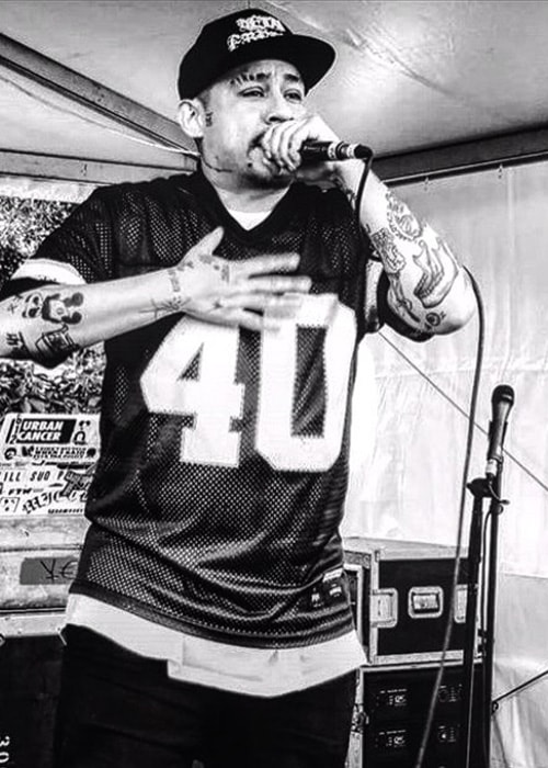 Mike Mictlan Performing as seen on his Instagram Profile in May 2016