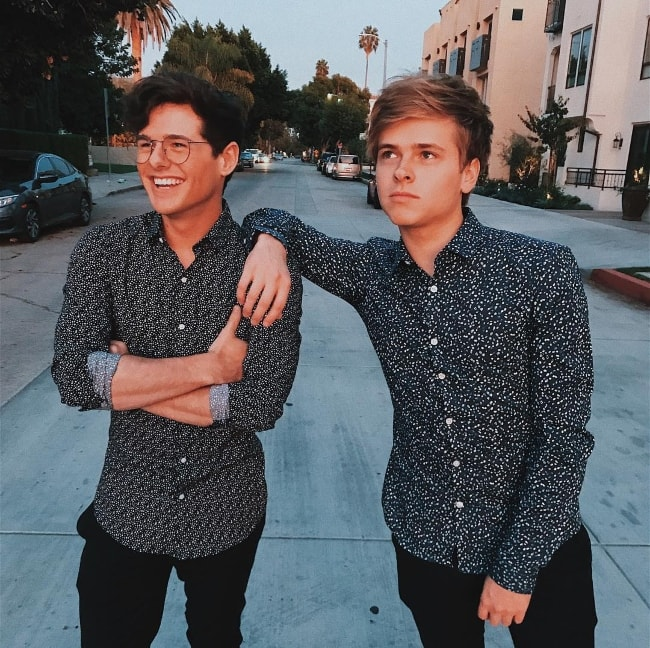 Mikey Murphy with Luke Korns (Right) in January 2018