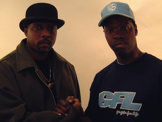 Nate Dogg (Left) as seen while posing with rapper Daddy V