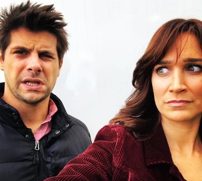 Nicole da Silva taking a selfie with actor Ryan Johnson in August 2017