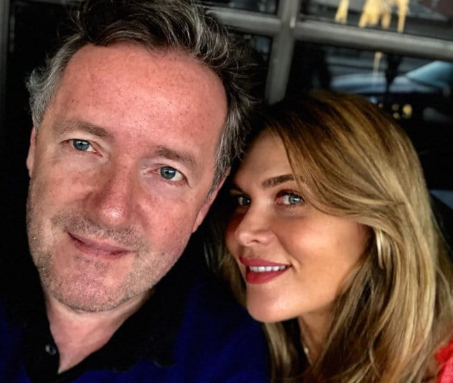 Piers Morgan and Celia Walden in a selfie in March 2018