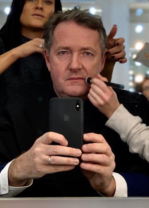 Piers Morgan in an Instagram selfie as seen in February 2019