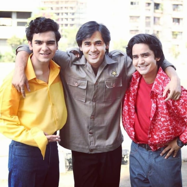 Raghav Dhir as seen in a picture with Randeep Rai and Sanjay Choudhary taken in Film City, Mumbai in May 2018