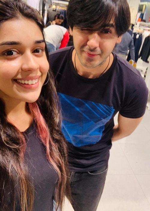 Randeep Rai as seen in a selfie with Eisha Singh taken in December 2018