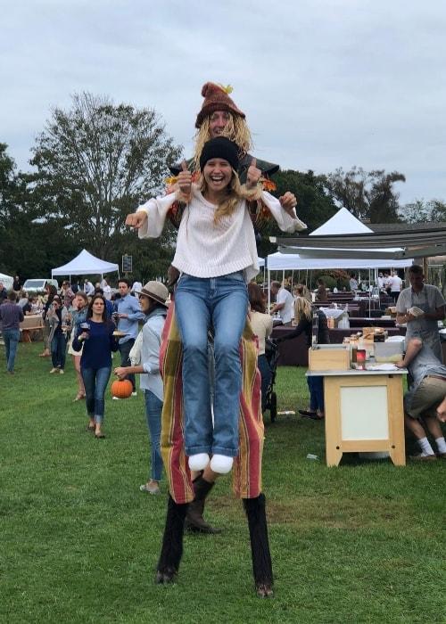 Sailor Brinkley-Cook enjoying her time at Wölffer Estate Vineyard in October 2018