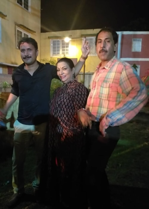 Sanjay Batra as seen in a picture with Chandresh Singh and Abha Parmar taken in Film City, Goregaon in October 2018