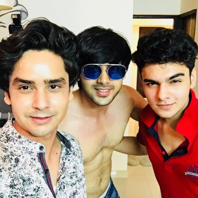 Sanjay Choudhary as seen in a picture with Randeep Rai and Raghav Dhir taken in Goregaon in August 2018