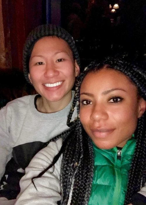 Shalita Grant as seen in a selfie with her wife Sabrina Skau in January 2019
