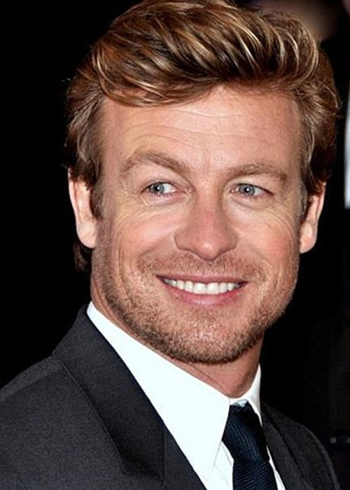 Simon Baker in Paris at the French Premiere of I Give it a Year in April 2013