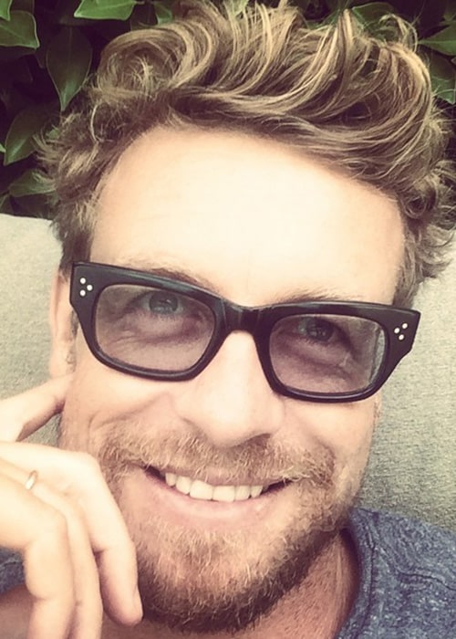 Simon Baker in an Instagram Selfie in July 2014