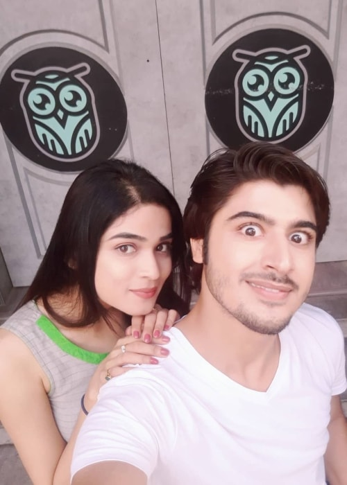 Somendra Solanki as seen in a selfie with Hema Sood in August 2018