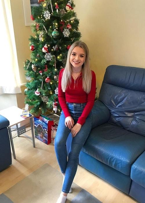Sophie as seen in a picture taken in December 2018