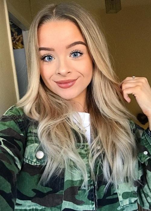 Sophie as seen in a selfie taken in February 2019