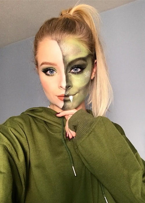 Sophie as seen in a selfie taken in October 2018