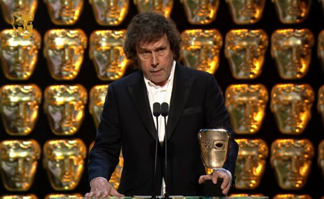 Stephen Rea Talking at the BAFTA 2015 After Winning the Award for the Best Supporting Actor