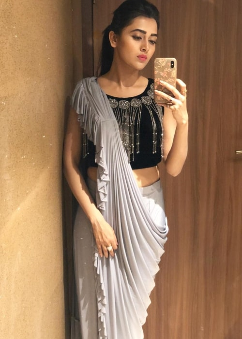 Tejaswi Prakash Wayangankar as seen in a selfie taken in Kolhapur in February 2019