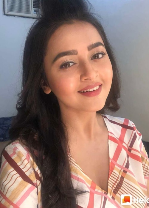 Tejaswi Prakash Wayangankar as seen in a selfie taken in March 2019