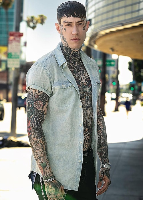 Trace Cyrus as seen on his Instagram Profile in July 2018