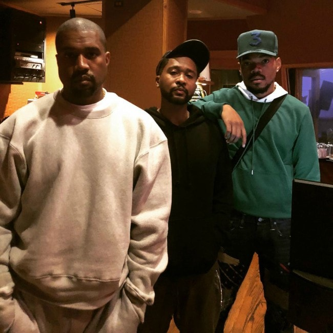 Zaytoven as seen with rapper Kanye West and Chance The Rapper in August 2018