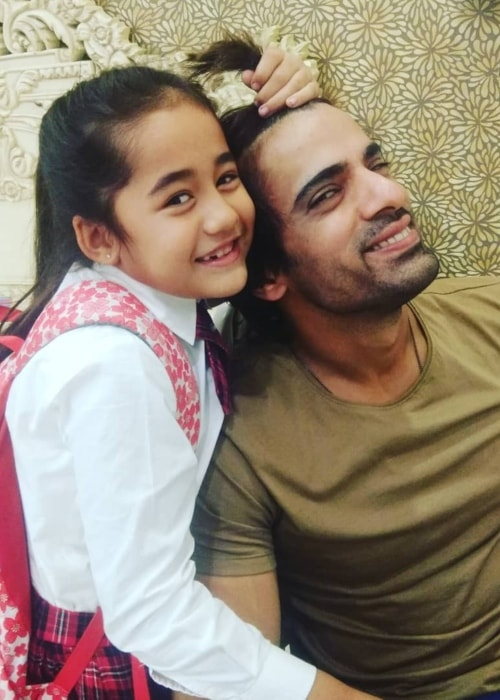 Aakriti Sharma as seen in a picture with her co-star Mohit Malik in November 2018