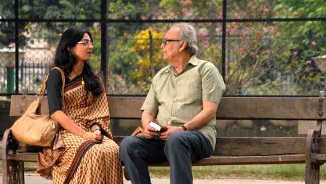 Actors Radhika Apte and Soumitra Chatterjee in a still from Rupkatha Noy
