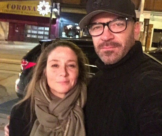 Alan van Sprang as seen while posing casually with his 'Reign' co-star, Megan Follows, while out for a dinner in December 2015