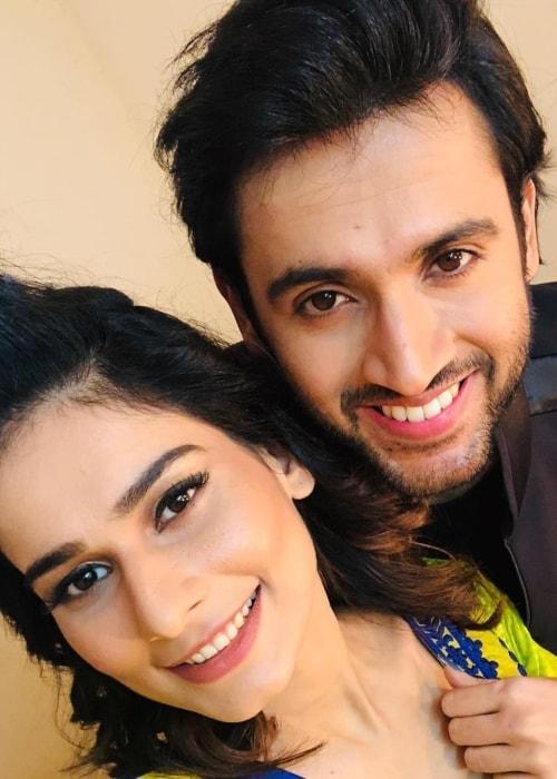 Aneri Vajani as seen in a selfie with Mishkat Varma in December 2018