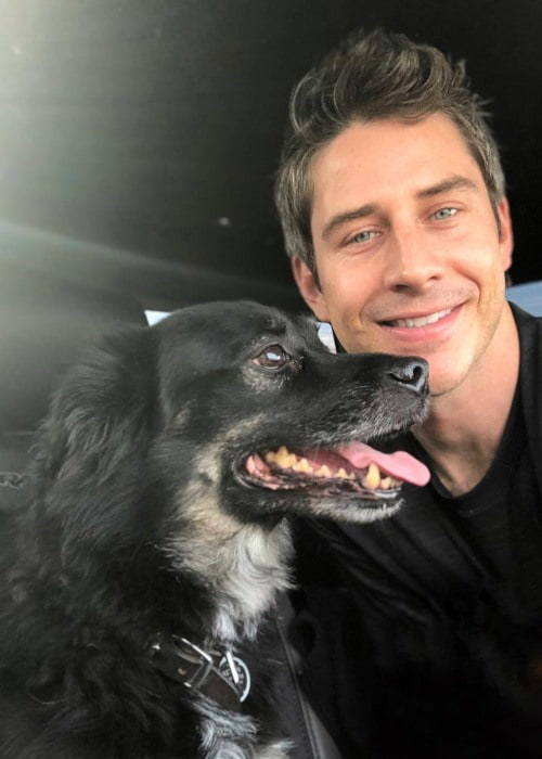 Arie Luyendyk Jr. with his dog as seen in February 2018