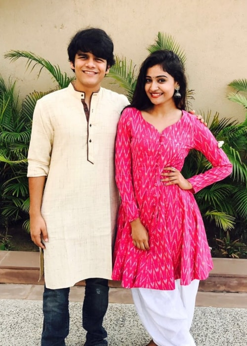 Bhavya Gandhi as seen in a picture with Shraddha Dangar in August 2017