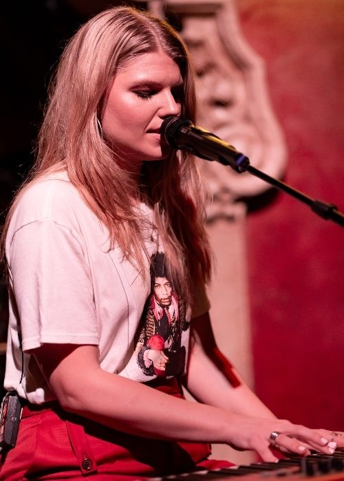 Brynn Elliott as seen while performing live at School Night at Bardot Hollywood in Los Angeles, California, on September 10, 2018