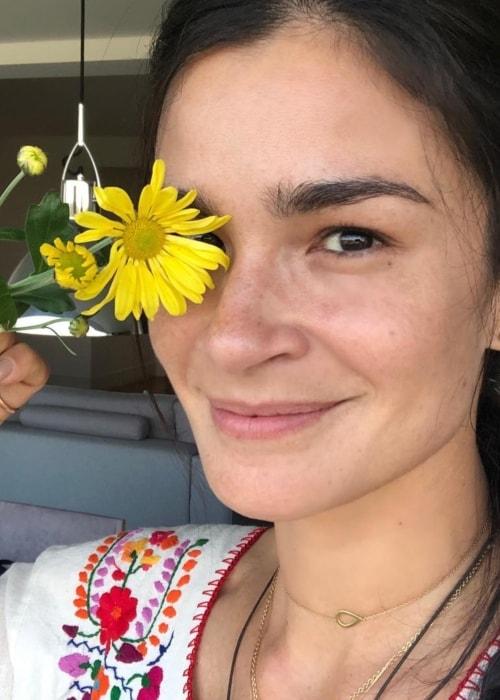 Caroline Ribeiro as seen in a selfie taken in April 2019