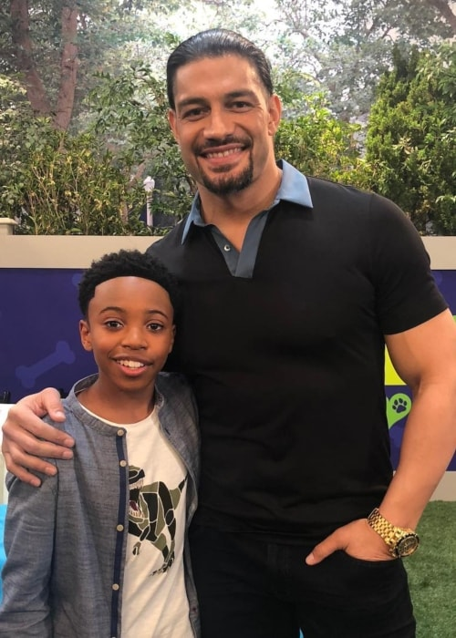 Dallas Dupree Young as seen in a picture with Roman Reigns in February 2019