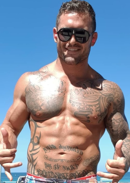 Daniel Conn as seen while posing shirtless in December 2018