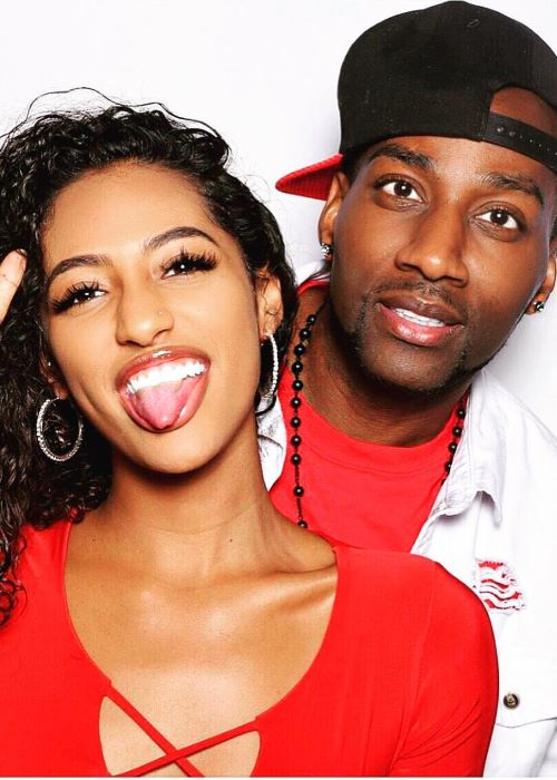 DeStorm Power with his Girlfriend Alicia Gordillo as seen on his Instagram Profile in February 2019