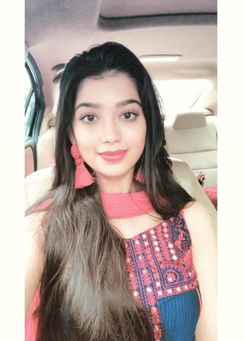 Digangana Suryavanshi as seen in a selfie taken in July 2018