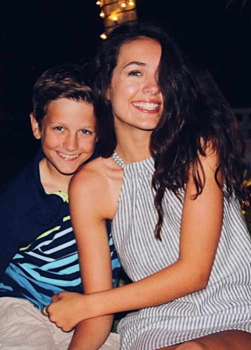 Emma Fuhrmann as seen in a picture with her younger brother Nick Fuhrmann in December 2017