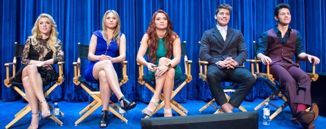 From Left to Right - Bailey De Young, Rita Volk, Katie Stevens, Gregg Sulkin, and Michael J. Willett
