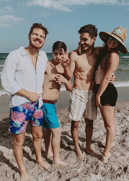 From Left to Right - Claudio Conte, Nicolas Conte, Gabriel Conte, and Sofia Conte in February 2019