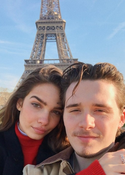 Hana Cross as seen in a selfie with Brooklyn Beckham in Paris in February 2019